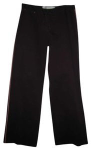 Sitwell Boot Cut Pants Brown with Pink Pin Stripe