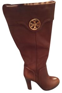 Tory Burch Knee High Platform Brown Boots