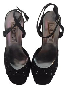 Michael Antonio Platform Black with Clear and Black Crystals Platforms