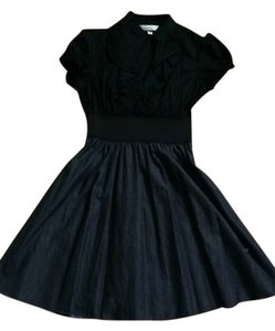 Speechless short dress Black/ Charcoal/dark Jean Color on Tradesy
