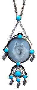 Other Wolf Dream Catcher Necklace