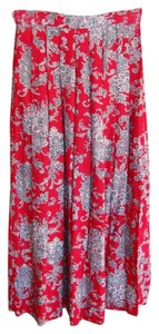 Liz Claiborne Skirt Red Geometric Print