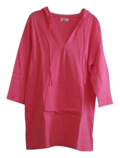 Item - Pink Tunic with Hood Cover-up/Sarong Size 16 (XL, Plus 0x)
