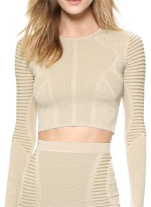 Torn by Ronny Kobo Stretchy Crop Knit Top