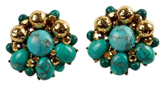 Preload https://item2.tradesy.com/images/jose-and-maria-barrera-bluegold-turquoise-beaded-clip-earrings-3416926-0-0.jpg?width=440&height=440
