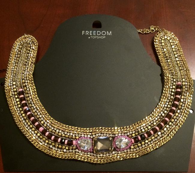Item - Gold Pink Cranberry Reserved For Amanda Necklace