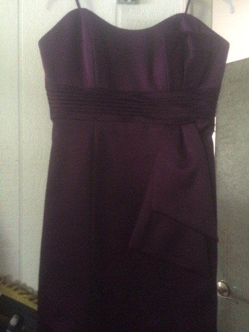 Preload https://img-static.tradesy.com/item/3417124/js-collections-winemaroon-strapless-formal-dress-size-2-xs-0-0-650-650.jpg
