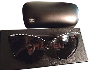 Chanel Chanel Sunglasses with Fresh Water Pearl Limited Edition 6040H