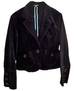 Velvet Cotton black Blazer