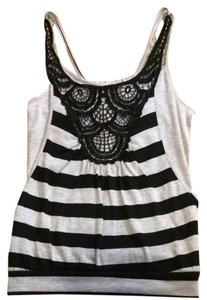 Derek Heart Top Gray/Black