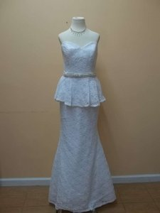 Mori Lee White Lace 5161 Formal Wedding Dress Size 8 (M)