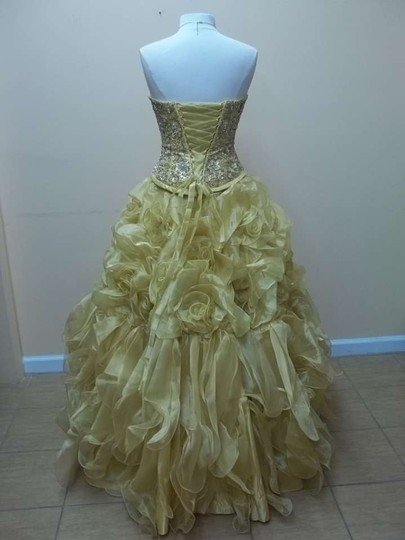 Gold 41022 Formal Bridesmaid/Mob Dress Size 8 (M)