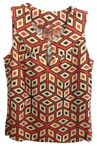 Tory Burch Top Orange/Navy