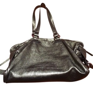 Sondra Roberts Metallic Shiny Hobo Bag