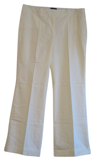 Item - Yellow and White Seersucker Pants Size 14 (L, 34)