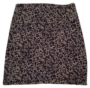 nagenation Mini Skirt Cheetah Print