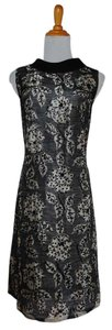 Marshall Field & Co. Vintage 1950s 50s After Five After Five Shop Sequin Beaded Collar Shift Party Evening Rare 10 Floral Dress