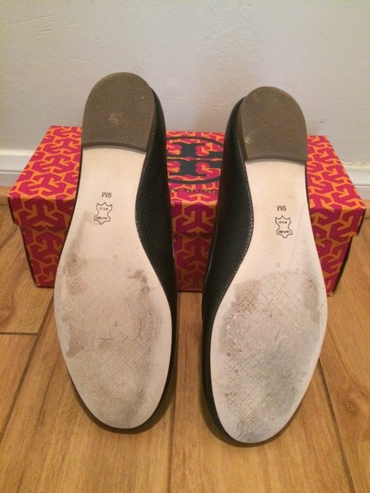 Tory Burch Leather Black Flats