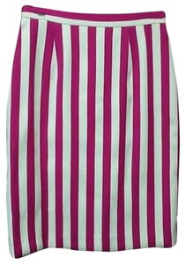 Vintage Striped Pencil Wool Skirt