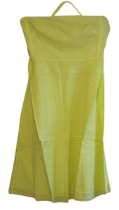 J.Crew short dress Neon Yellow Cotton on Tradesy