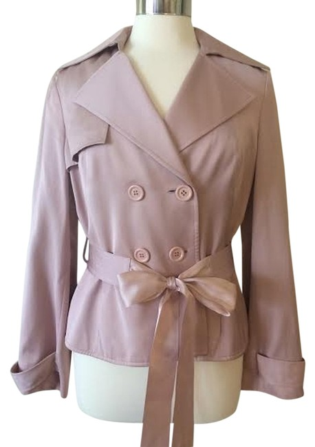 Preload https://img-static.tradesy.com/item/3418798/nine-west-pink-short-trench-coat-size-8-m-0-0-650-650.jpg