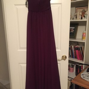 Mori Lee Eggplant Chiffon 20412 Formal Bridesmaid/Mob Dress Size 2 (XS)