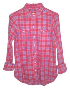 Hollister Button Down Shirt Red