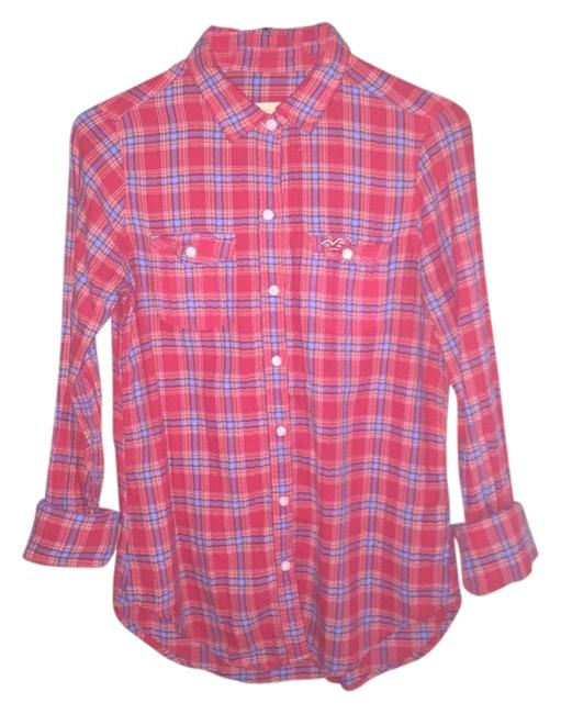 Preload https://img-static.tradesy.com/item/3418945/hollister-red-button-down-top-size-6-s-0-0-650-650.jpg