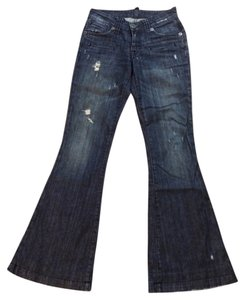 Pratts Flare Leg Jeans-Distressed