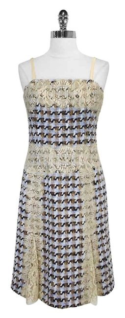 Preload https://img-static.tradesy.com/item/3419416/etcetera-blue-woven-cotton-blend-w-lace-mid-length-short-casual-dress-size-6-s-0-0-650-650.jpg