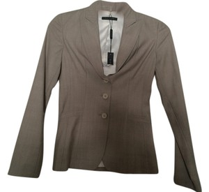 Elie Tahari ELIE TAHARI NEW Montana Beige Virgin Wool Three-Button Blazer Jacket Size 0
