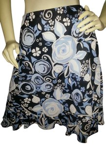 Worthington Skirt Blue Floral