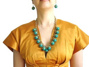 J.Crew J.crew green bauble necklace and earrings set