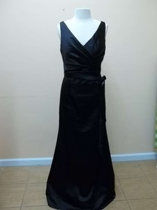 Mori Lee Black Satin 684 Formal Bridesmaid/Mob Dress Size 16 (XL, Plus 0x)