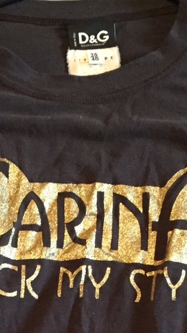 Preload https://item2.tradesy.com/images/dolce-and-gabbana-brown-and-gold-t-shirt-3420541-0-0.jpg?width=400&height=650