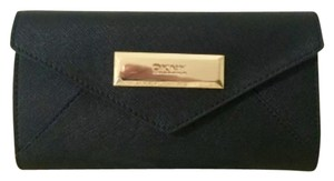 DKNY DKNY black saffiano leather wallet