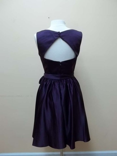 Mori Lee Eggplant Satin 31012 Formal Bridesmaid/Mob Dress Size 12 (L)