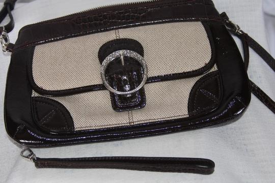 Brighton Brown and Tan Clutch