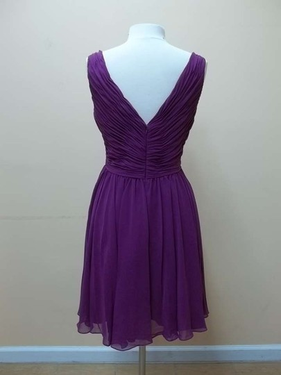 Mori Lee Mulberry Chiffon 31015 Formal Bridesmaid/Mob Dress Size 14 (L)