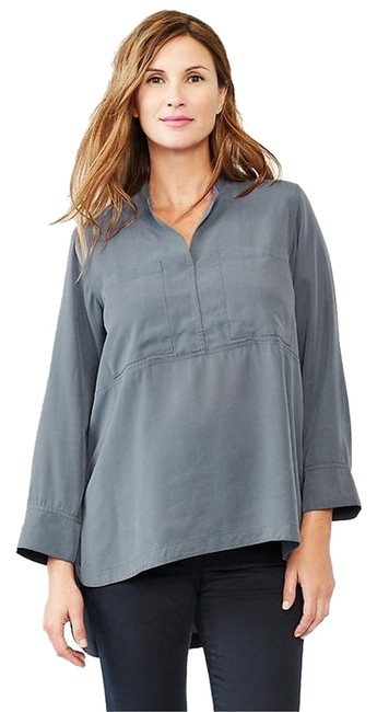 Gap Tencel Chambray Tunic Top Slate Blue
