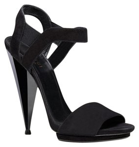 Gucci Liberty Colorblock Suede Sandal Black Platforms