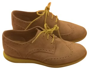 Cole Haan Suede Leather Casual Spring Summer Fall Winter Breathable Comfortable Maple Sugar and Lime Light Flats