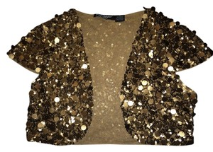 Betsey Johnson Top Bronze gold