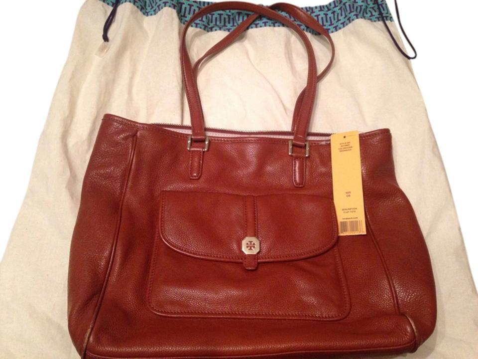 Tote Tory Sienna Pebbled Burch 'clay' Italian Brown Reduced Leather Large wOgzZxa1O
