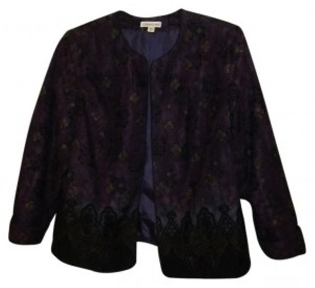 Preload https://item4.tradesy.com/images/coldwater-creek-purple-wblack-and-tan-jacket-w-slimming-cut-cardigan-size-18-xl-plus-0x-34223-0-0.jpg?width=400&height=650