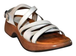 Dansko Leather Strappy White Sandals