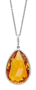 Other 4.0 CTW Citrine Pendent In Sterling Silver