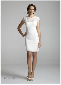 Db Studio Ivory Lace New Limited Edition Cap Sleeve With Exposed Zipper Casual Wedding Dress Size