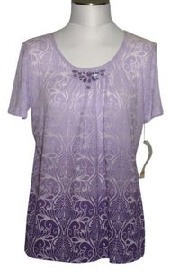 Alfred dunner purple new misses size small top 68 off for Alfred dunner wedding dresses