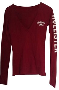 Hollister T Shirt Maroon Burgundy